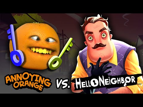 Annoying Orange vs Hello Neighbor! #Shocktober