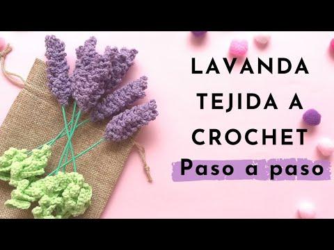 lavanda-tejida-a-crochet-/-flor-crochet-/-crochet-tutorial-/-ganchillo-/-handmade