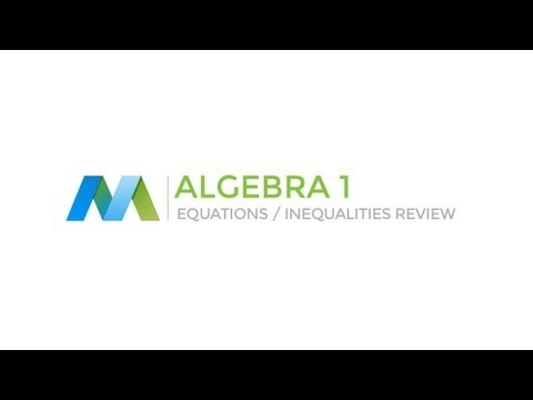 Algebra 1: Equations and Inequalities Review (#1)