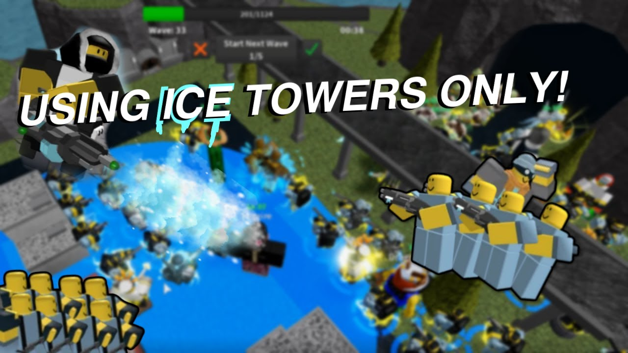 TRYING TO WIN USING ICE TOWERS ONLY [TOWER DEFENSE SIMULATOR]
