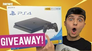 PLAYSTATION 4 SLIM 300 GIVEAWAY 🎮🎁 ! (PAS DE CLICKBAIT) Fortnite Anglais