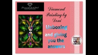 Diamond Painting Unboxing and Giving You Answers - Diamond Art Club - Topsy Turvy