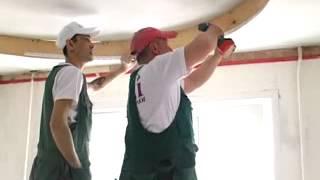 видео 2 уровневые натяжные потолки