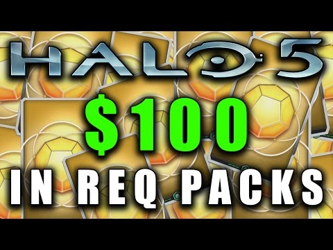 Opening $100's Worth Of REQ Packs | 37 GOLD REQ PACKS | Halo 5 Guardians