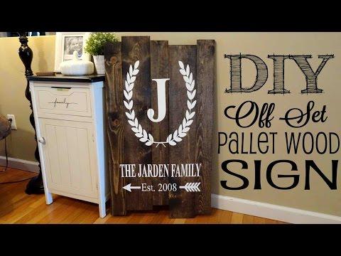 *DIY* Pallet  Sign | Off Set Planks