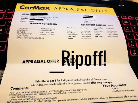 Don't get ripped off selling your car to Carmax!