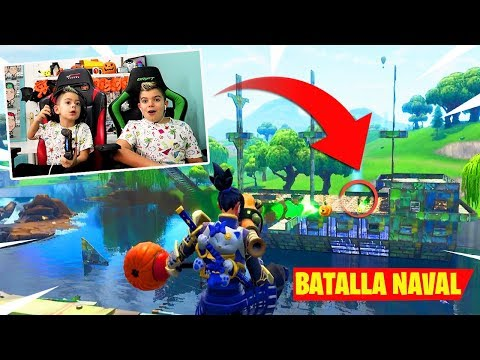 BATALLA NAVAL EN FORTNITE!!! PINO vs ARES/ Patio de juegos