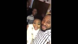 Yul Edochie partying hard with the ladies at Mary Uranta39s birthday party