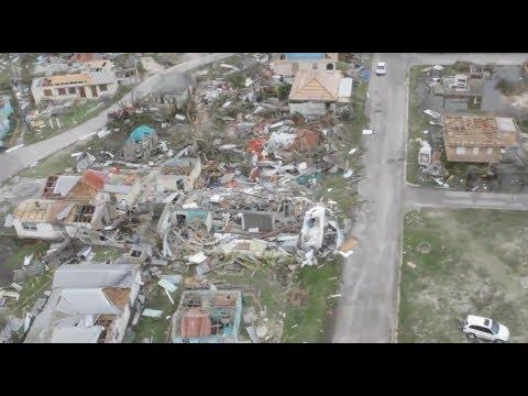 Devastation after IRMA 2017. Drone footage in Barbuda. Разрушения после урагана ИРМА на БАРБУДА.