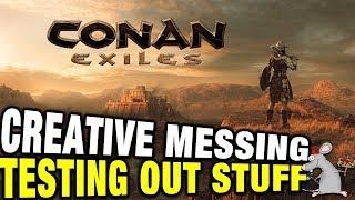 CONAN EXILES - CREATIVE MESSING AROUND! AVATARS BUILDING WEAPONS AND ARMOUR