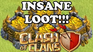 Clash of Clans - INSANE LOOT!!! MOST LOOT I'VE EVER GOTTEN!