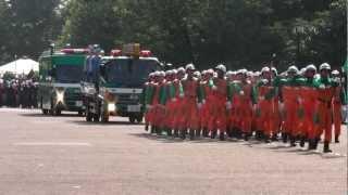 警視庁機動隊 観閲式 分列行進 review of Tokyo M.P.D. riot police 2012
