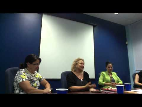 Panel discussion: volunteering, self-employment and education.
