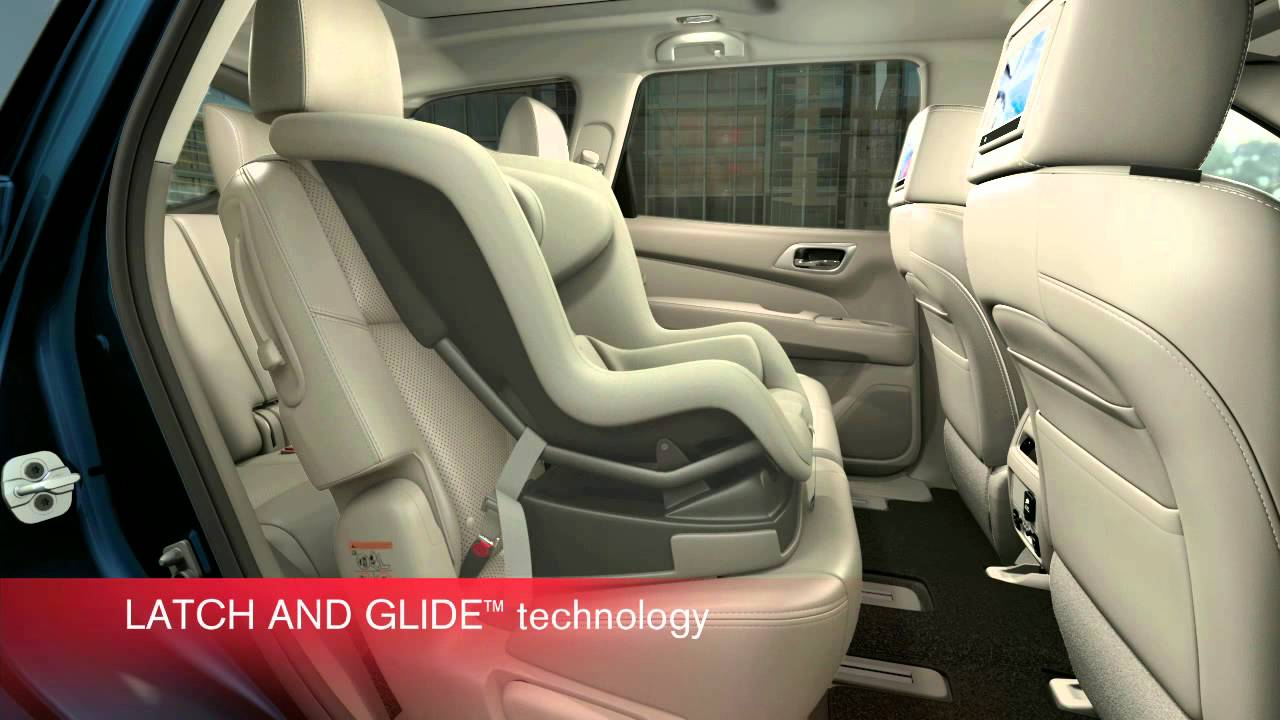 Third Row Seating >> Pathfinder's EZ Flex Seating System with LATCH AND GLIDE technology in action - YouTube