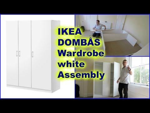 IKEA DOMBÅS Wardrobe white Assembly - How to