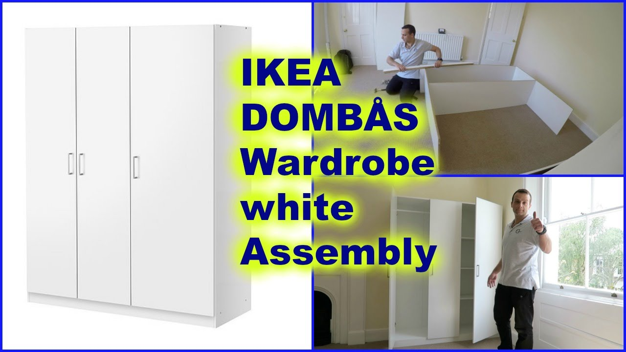 Aspelund Guardaroba Ikea.Ikea Dombas Wardrobe White Assembly How To