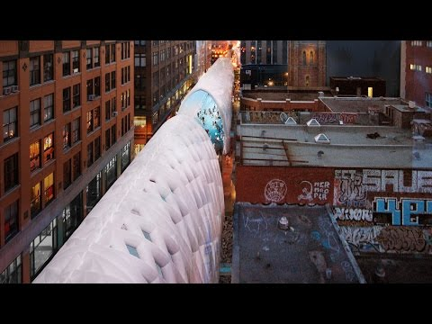 Coming to Montreal: Giant inflated tunnels for construction