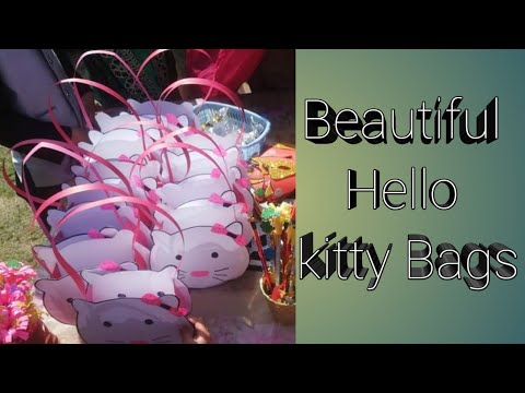 DIY hello kitty paper bag# how to make paper bag# diy#easy&simple