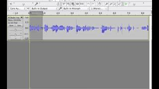 Cutting Audio in Audacity