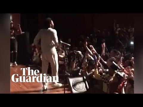 Childish Gambino surprises Chicago high school students