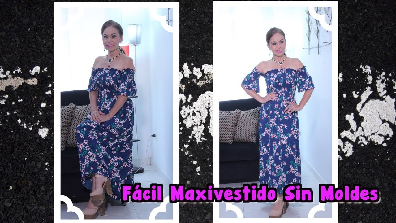 f34fa803b3 Omaira tv- Fácil Maxi Vestido Sin Moldes - YouTube