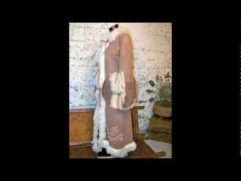 Vintage Long~Shaggy Afghan Mongolian Curly Lamb~Shearling Suede~Fur Lined Princess Coat S