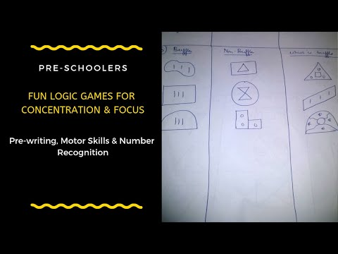 DIY - Fun Logic Games For Concentration & Focus ( Pre-writing,Motor skills, Number recognition)