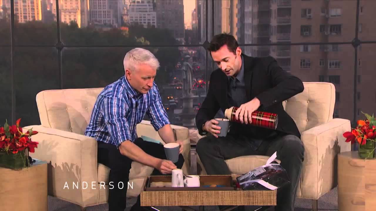 Anderson Tries Hugh Jackmans Laughing Man Coffee