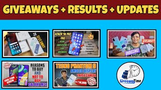 #GiveawayResults Gadget to Use Samsung M21 , Honor 9X Pro Giveaway Results, Giveaways & More
