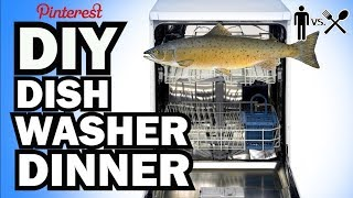 DIY DISHWASHER DINNER - Man Vs Din #2 by : ThreadBanger