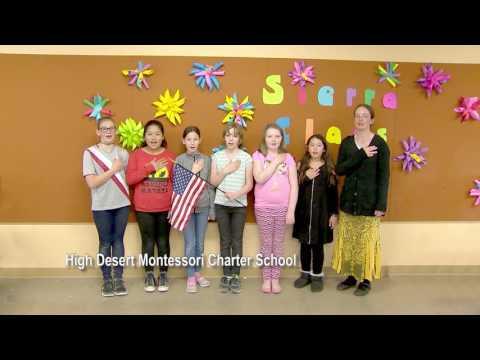 One Nevada Morning Pledge - High Desert Montessori Charter School Group 4