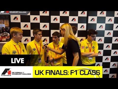 F1 in Schools UK National Final 2015 - F1 Class Racing and Team interviews