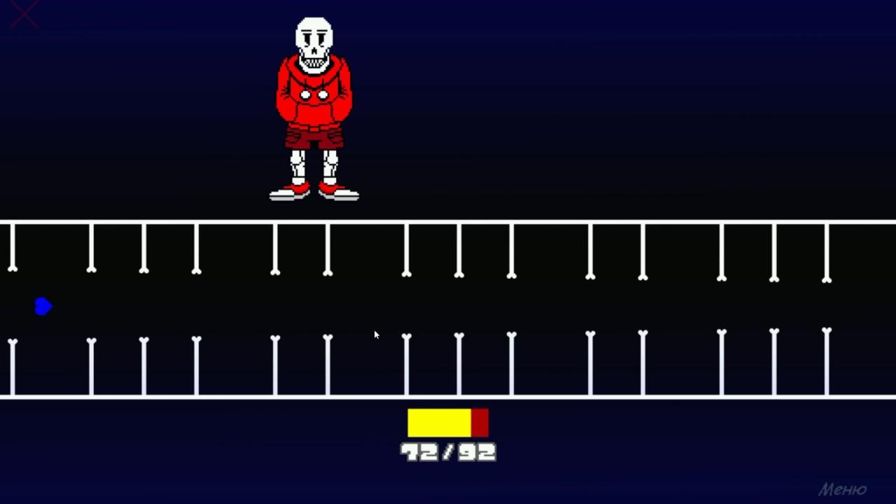 Underswap papyrus Fight Sans simulator