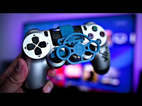 It's HERE! 3D Printed PS4 Controller Steering Wheel | 3D Printed Rack and Pinion Steering Mini Wheel