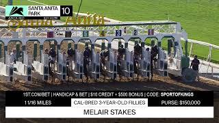 Fi Fi Pharoah wins the Melair Stakes on Saturday June 19th, 2021 at Santa Anita Park.
