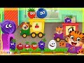Learn fruits and vegetables Food names by cartoon animals Truck game for kids