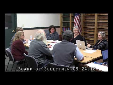 Board of Selectmen 09.24.18