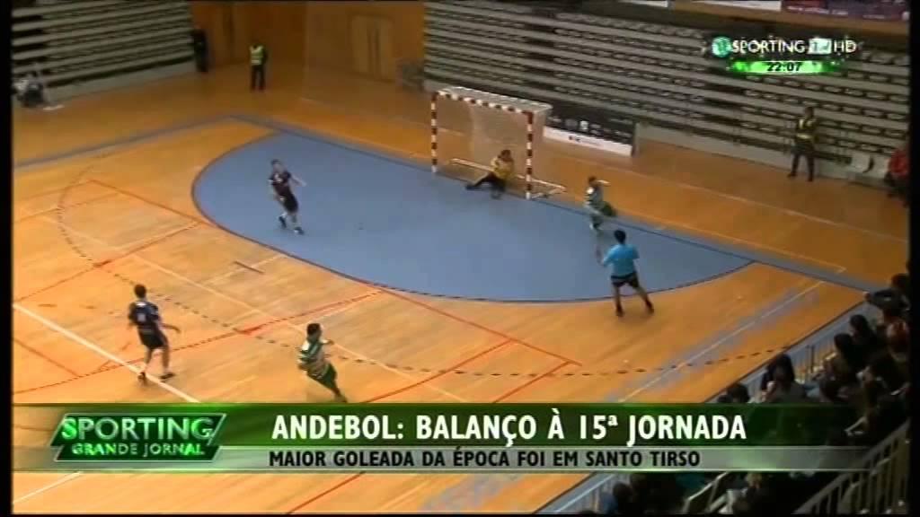 Andebol :: 12J :: Ginásio Santo Tirso - 15 x Sporting - 41 de 2014/2015