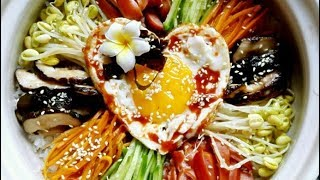 Easy Korean Bibimbap Recipe 韩式石锅拌饭