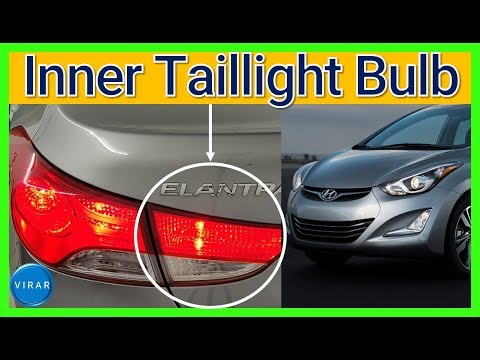 How to Replace Inner Taillight Bulb – Hyundai Elantra (2011-2016)