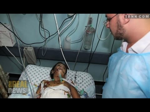 Gaza Children in Israeli Hospital After Drone Attack