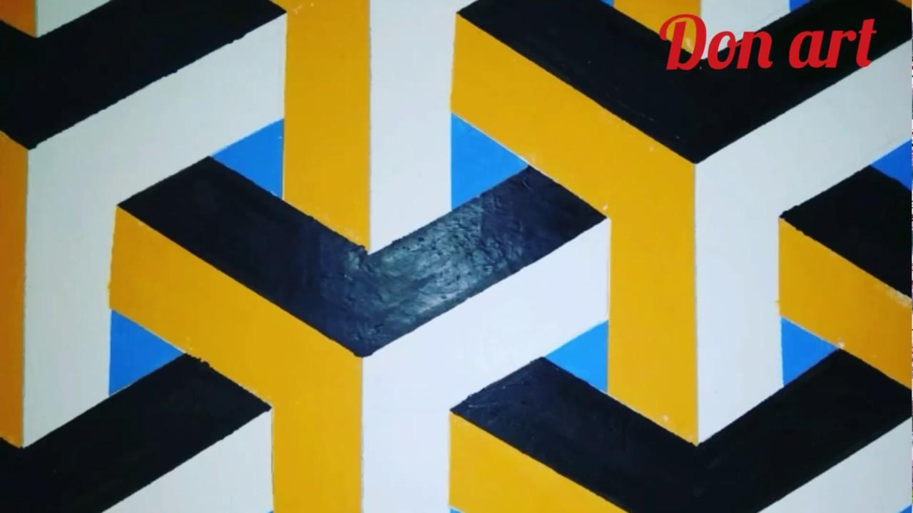 3d Wall Art Draw Painting Ilustrasion Cat Kamar Dinding Tembok 3d Mudah Keren Youtube