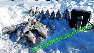 зимняя рыбалка на леща в палатке с ночевкой на льду