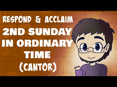 2nd Sunday in Ordinary Time (Respond and Acclaim) | January 17, 2021 | CANTOR