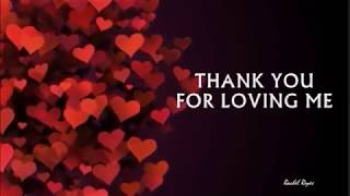 Download lagu THANK YOU FOR LOVING ME MP3