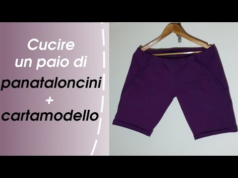 on sale d9767 db4ed Come Cucire Pantaloncini Con Tasche E Risvolto - YouTube