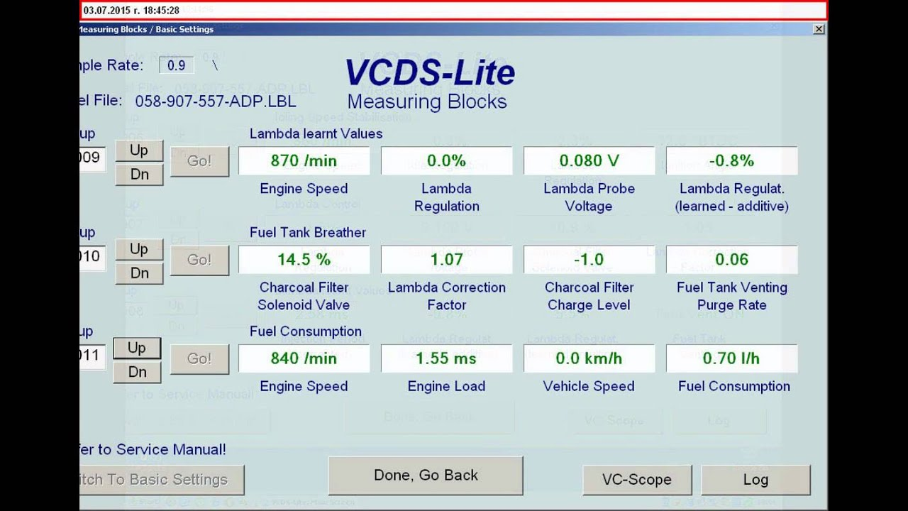 Audi A4 1,6 ADP- VAG COM parameters-OK! - YouTube