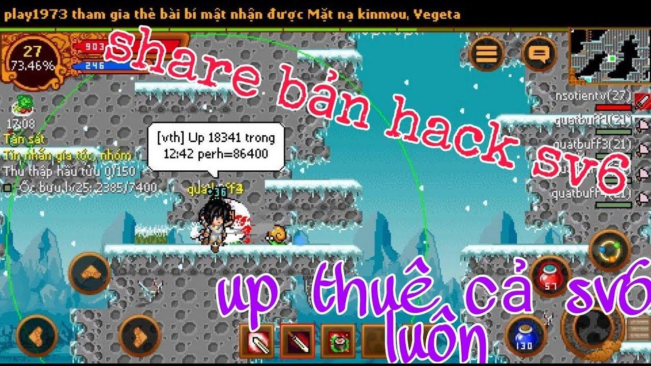 ►Ninja School Online►Share Bản Hack Sv6 Bao Phê Cùng 1 Loạt PB Làm Nhiệm Vụ Fix 900s Để Up Thuê !