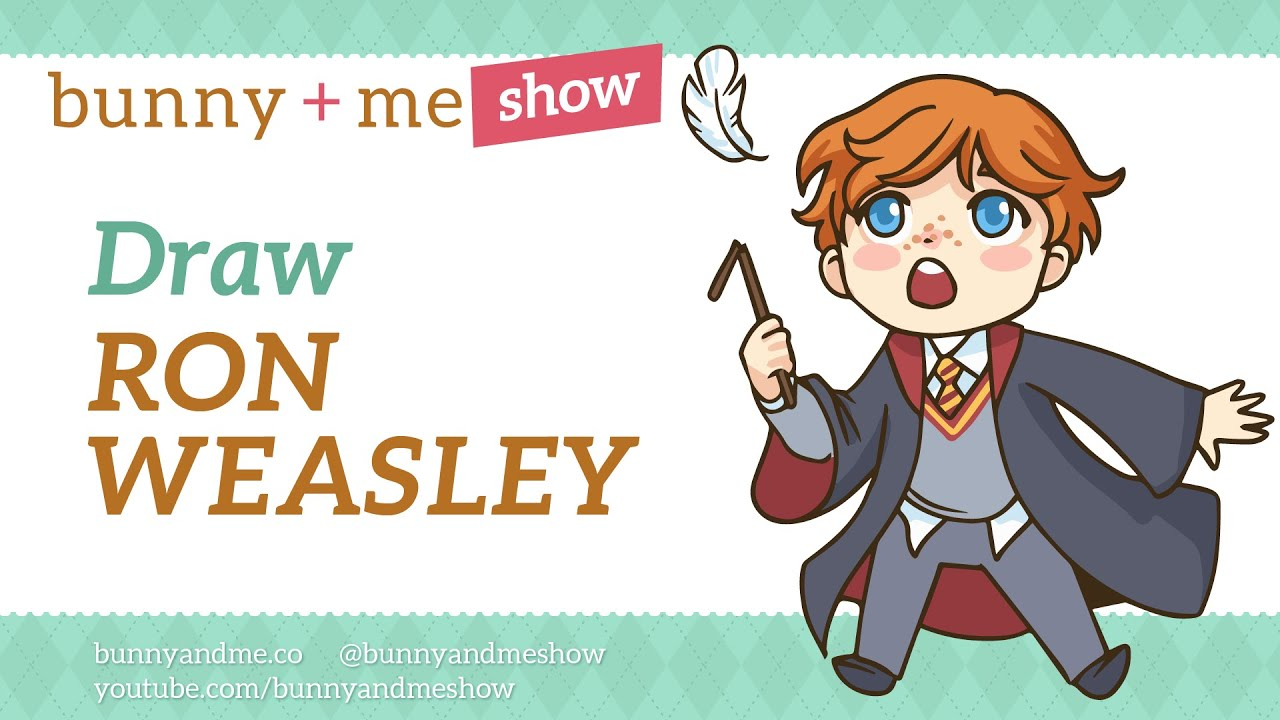 How To Draw Ron Weasley  Harry Potter Drawing Tutorial