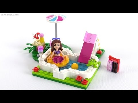 Lego friends olivia 39 s garden pool review set 41090 youtube for Lego friends olivia s garden pool 41090